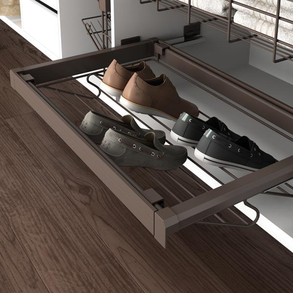 Porte chaussures avec cadre Moka