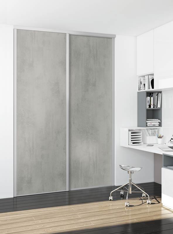 Portes de placard coulissantes Nadir gris