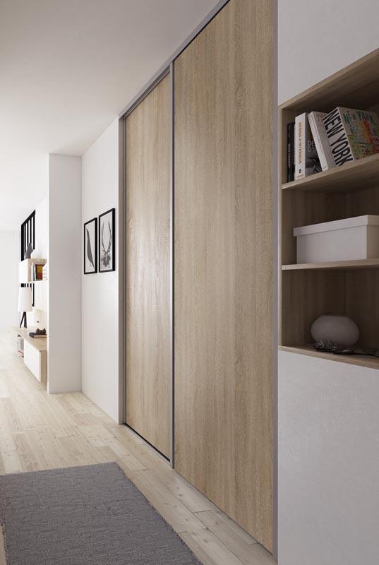portes de placard coulissantes bois chne sable