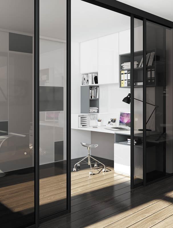 Portes coulissantes séparations de pièce, idéale pour séparer salon et bureau